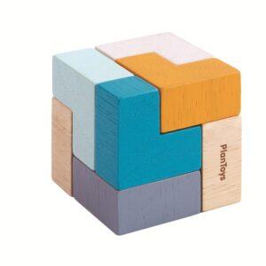 puzzle cubos madera